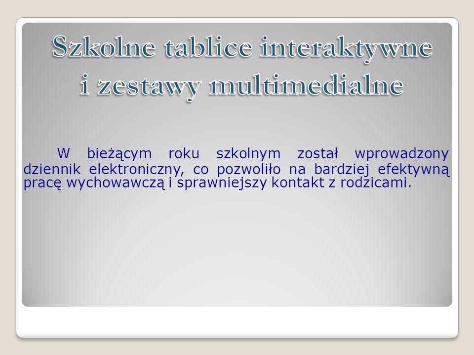 Szkolne tablice interaktywne i zestawy multimedialne