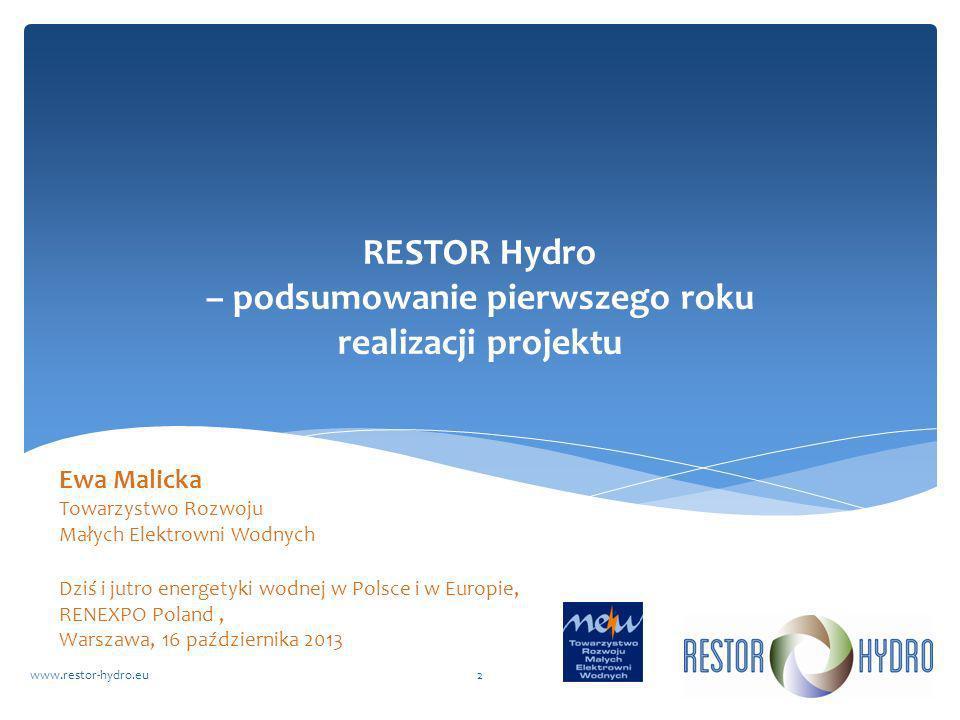 RESTOR Hydro – podsumowanie pierwszego roku realizacji projektu