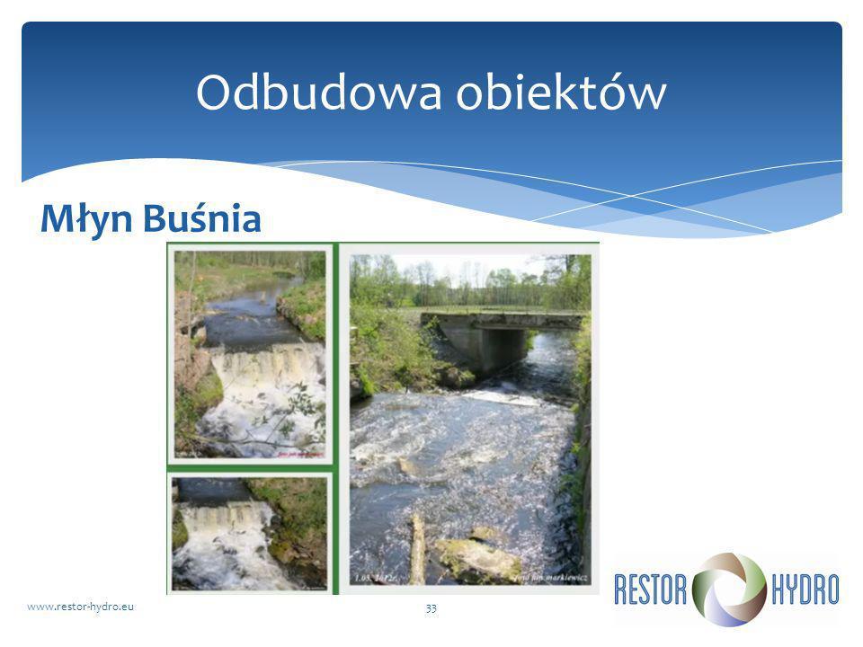 Odbudowa obiektów Młyn Buśnia www.restor-hydro.eu