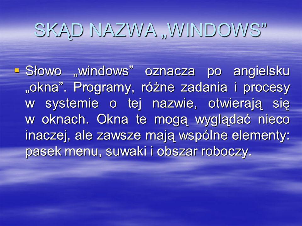 "SKĄD NAZWA ""WINDOWS"