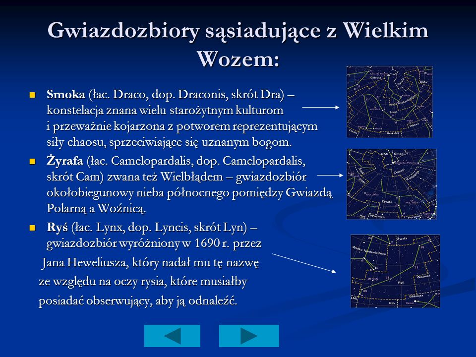 Gwiazdozbiory sąsiadujące z Wielkim Wozem: