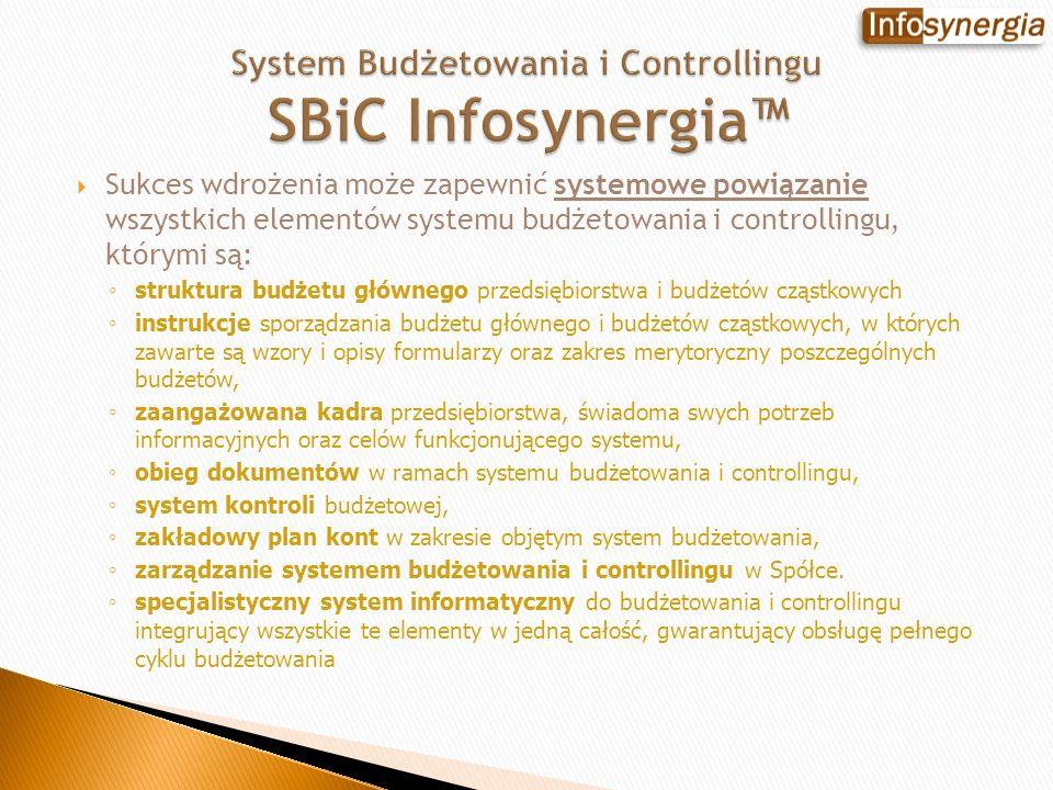 System Budżetowania i Controllingu SBiC Infosynergia™