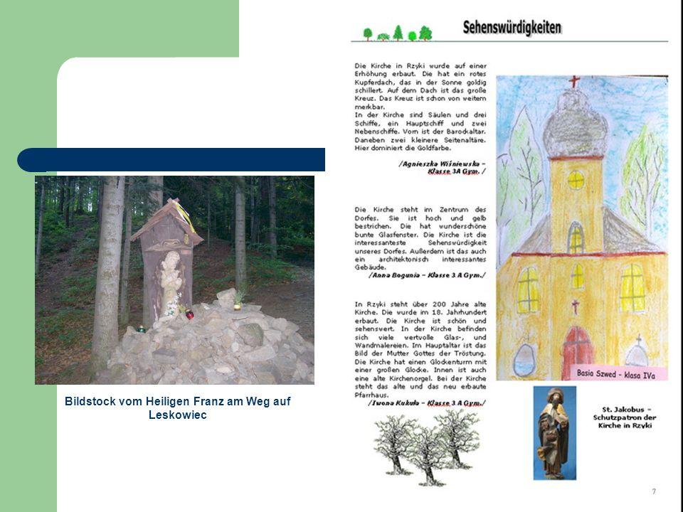 Bildstock vom Heiligen Franz am Weg auf Leskowiec