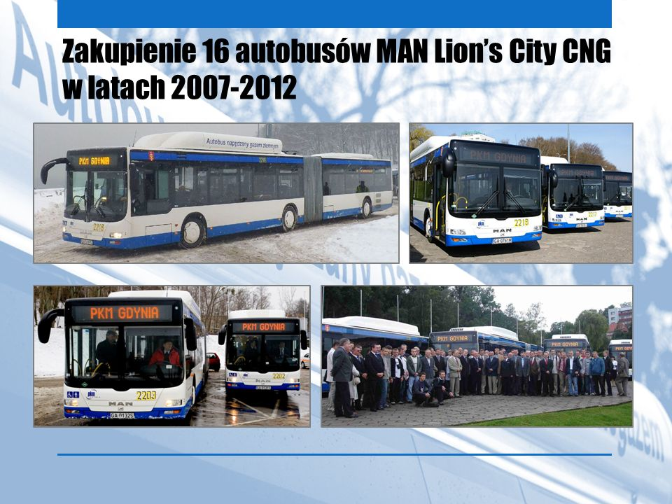 Zakupienie 16 autobusów MAN Lion's City CNG w latach 2007-2012