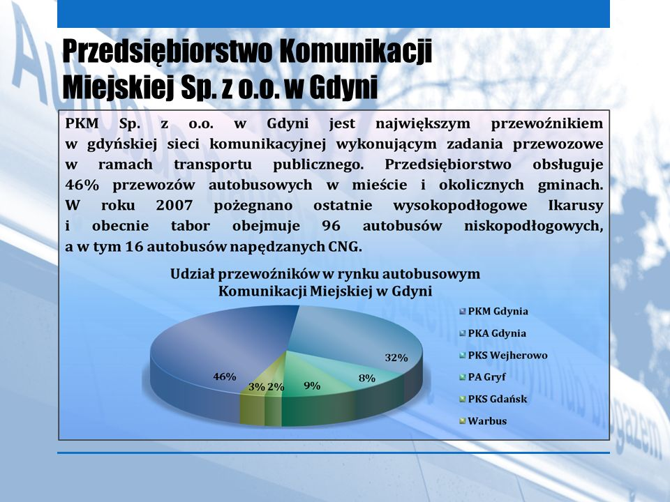 Przedsiębiorstwo Komunikacji Miejskiej Sp. z o.o. w Gdyni