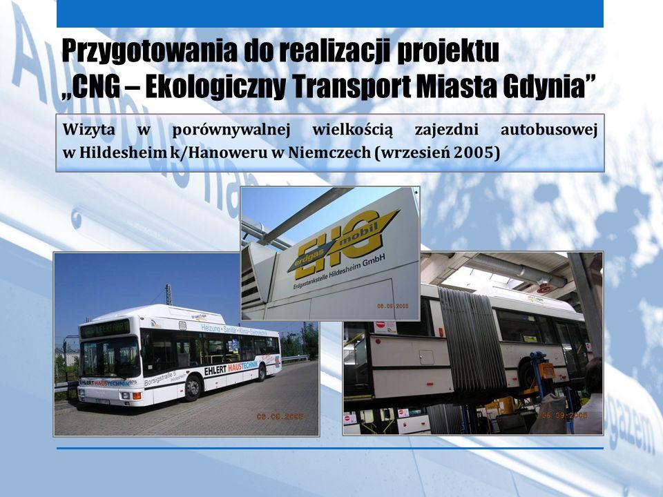 """Przygotowania do realizacji projektu """"CNG – Ekologiczny Transport Miasta Gdynia"""