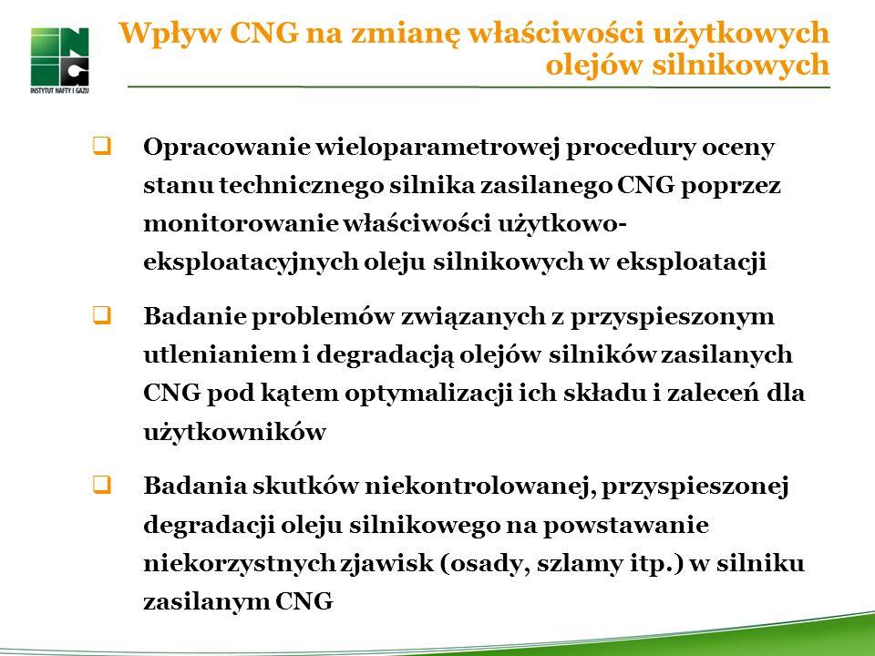 Wpływ CNG na zmianę właściwości użytkowych olejów silnikowych