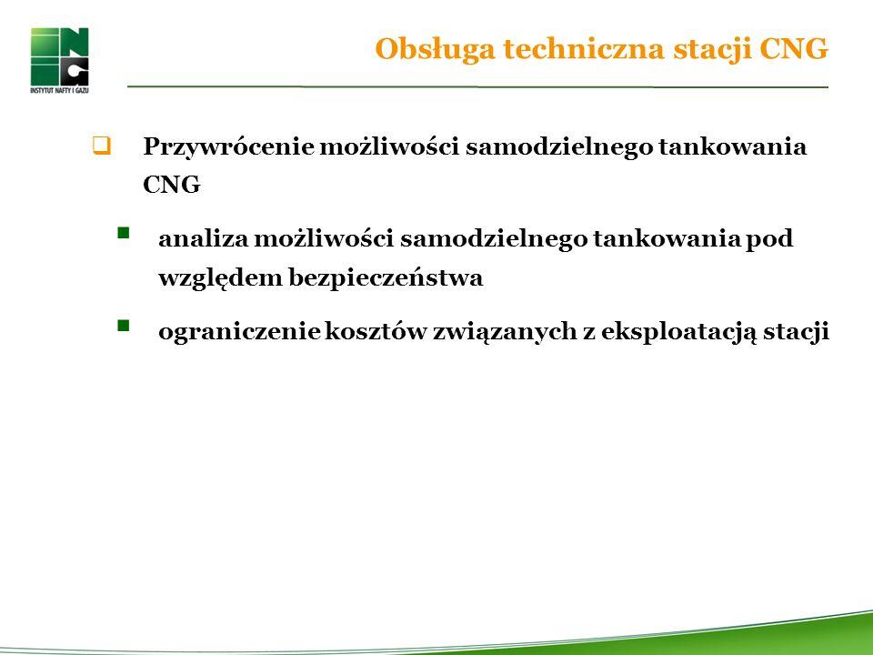 Obsługa techniczna stacji CNG