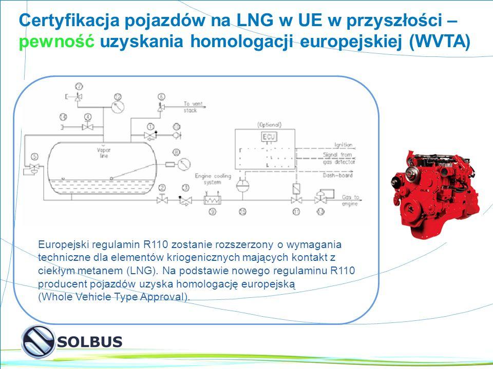 Certyfikacja pojazdów na LNG w UE w przyszłości –pewność uzyskania homologacji europejskiej (WVTA)