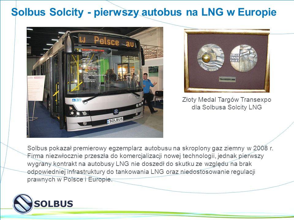 Złoty Medal Targów Transexpo dla Solbusa Solcity LNG