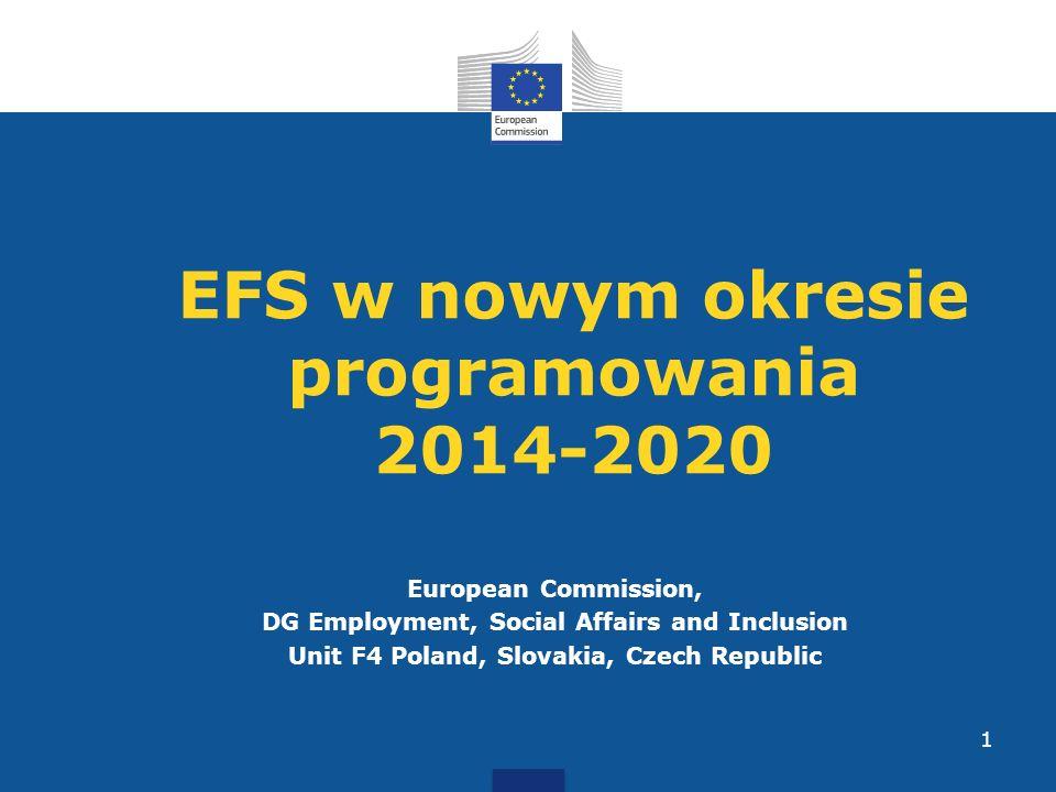 EFS w nowym okresie programowania 2014-2020