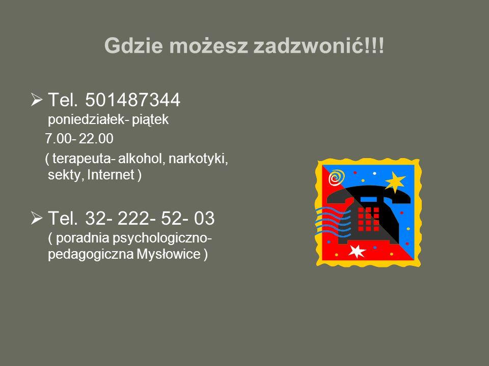 Gdzie możesz zadzwonić!!!