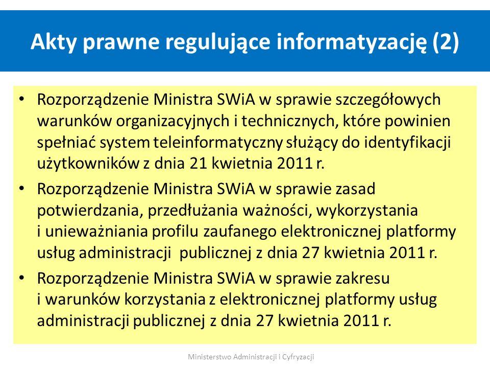 Akty prawne regulujące informatyzację (2)