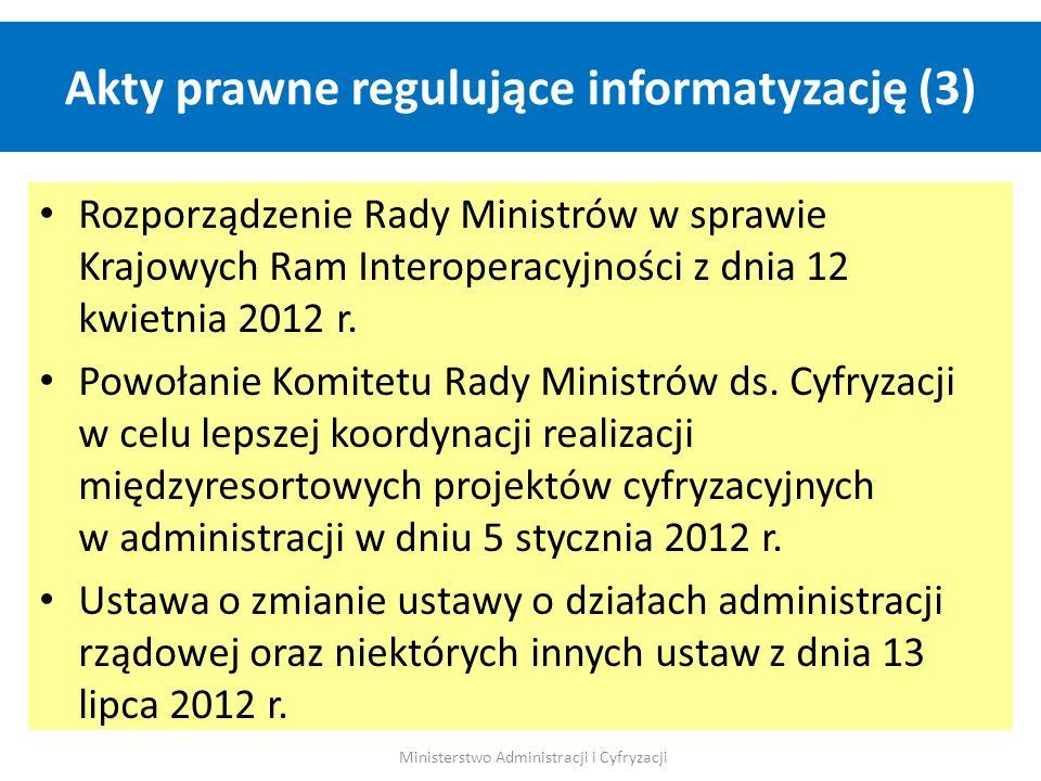 Akty prawne regulujące informatyzację (3)