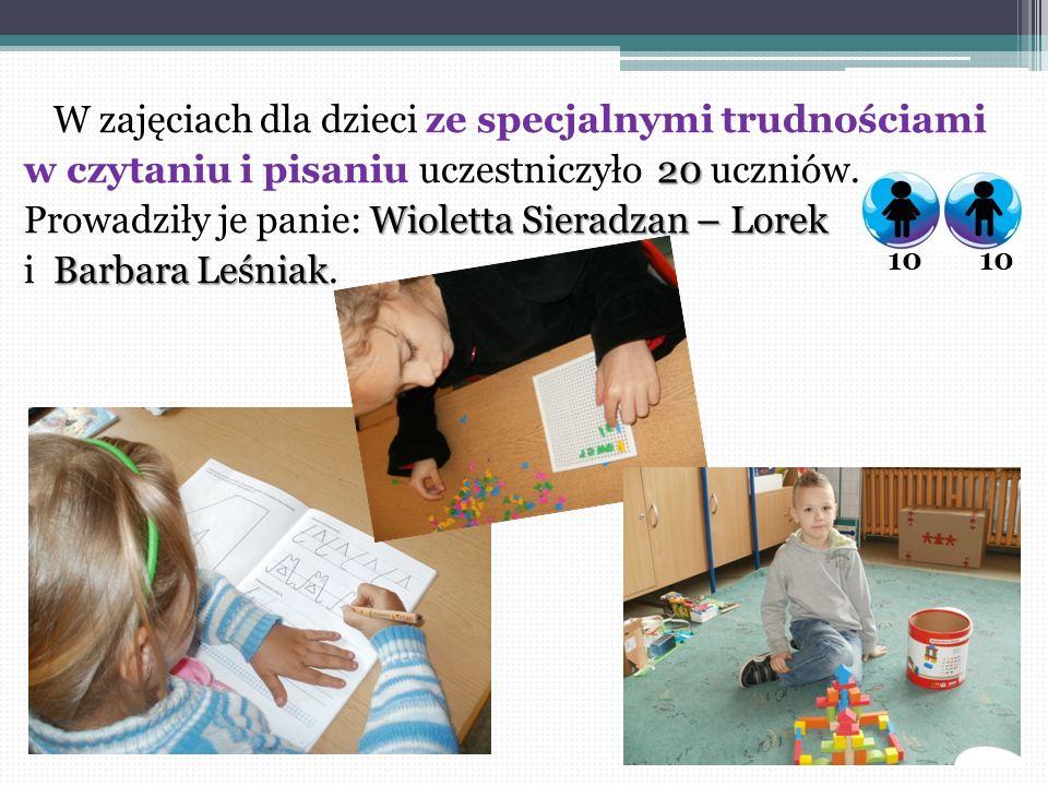 W zajęciach dla dzieci ze specjalnymi trudnościami