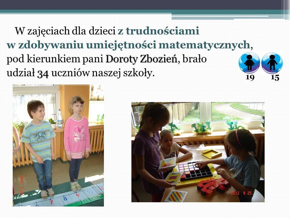 W zajęciach dla dzieci z trudnościami