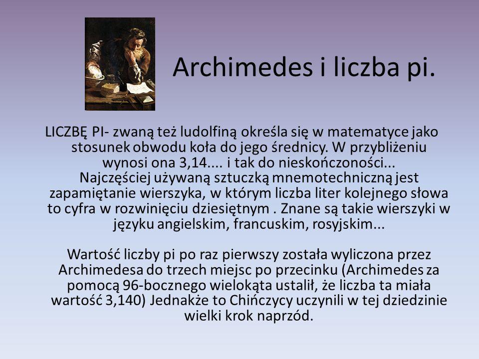 Archimedes i liczba pi.