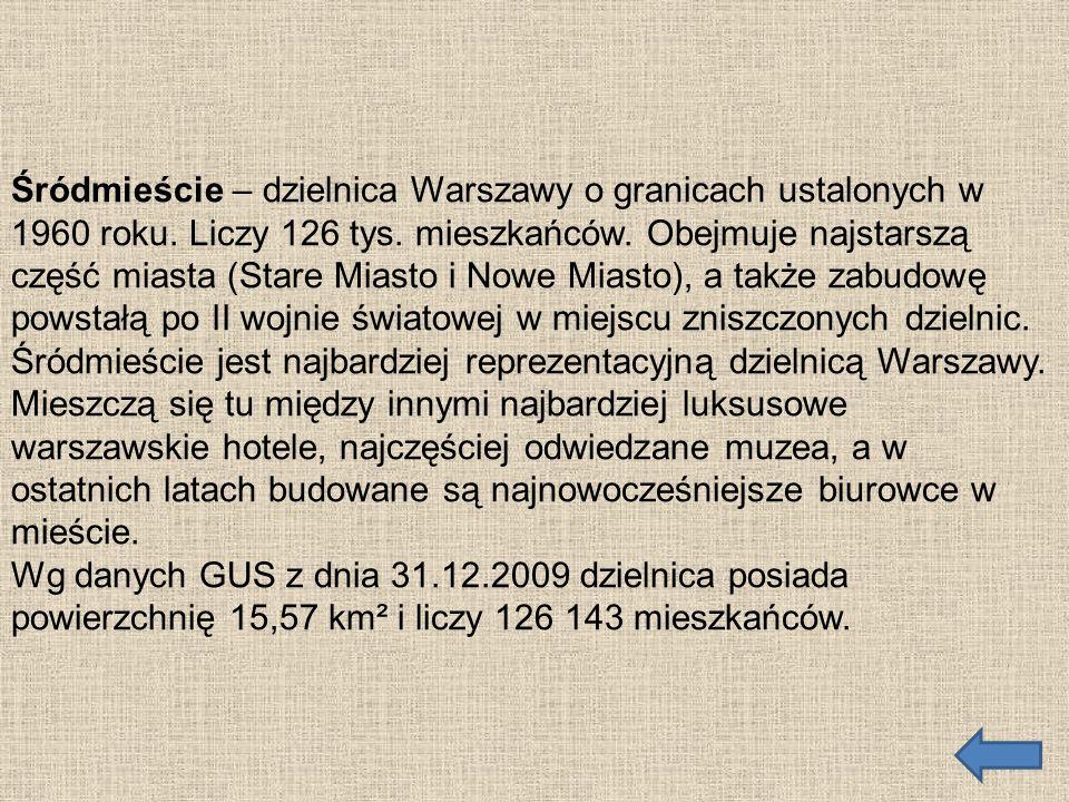 Śródmieście – dzielnica Warszawy o granicach ustalonych w 1960 roku
