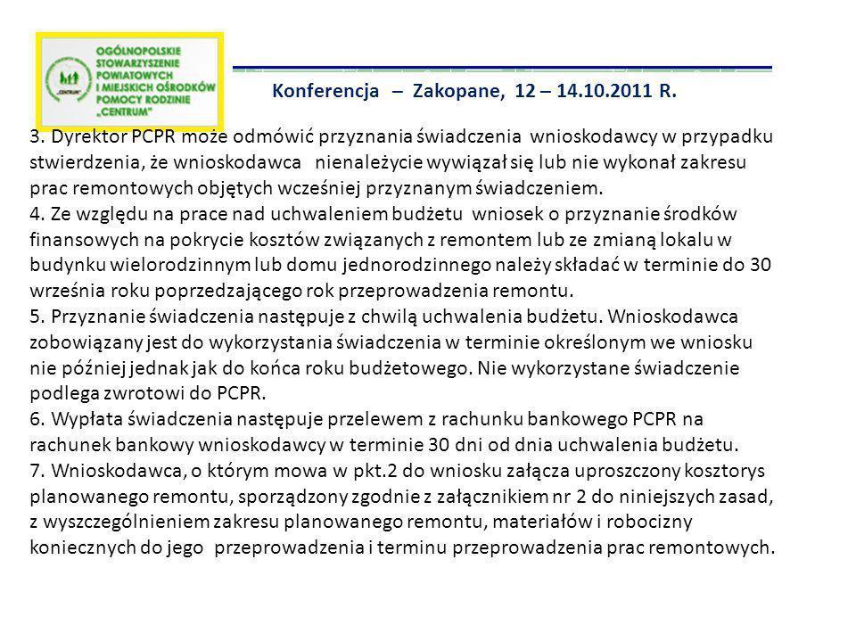 Konferencja – Zakopane, 12 – 14.10.2011 R.