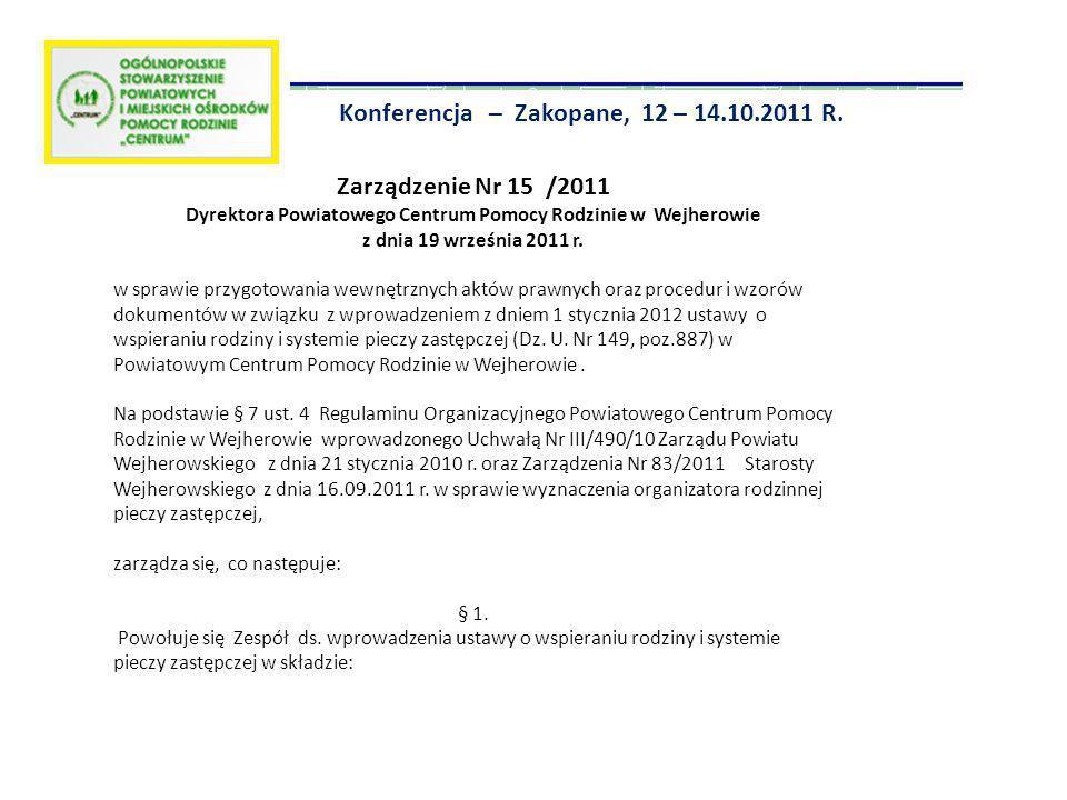 Dyrektora Powiatowego Centrum Pomocy Rodzinie w Wejherowie