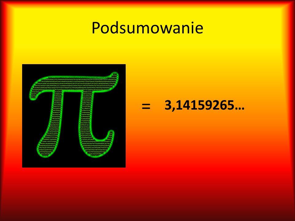 Podsumowanie = 3,14159265…