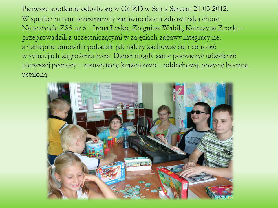 Pierwsze spotkanie odbyło się w GCZD w Sali z Sercem 21. 03. 2012