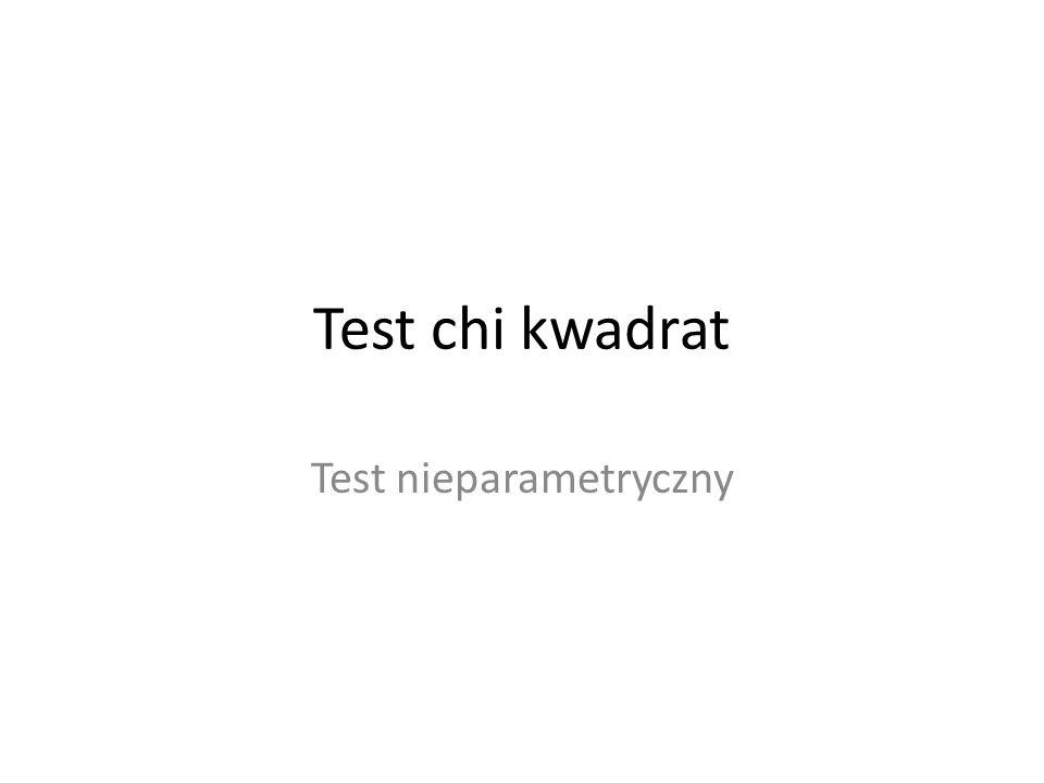 Test nieparametryczny