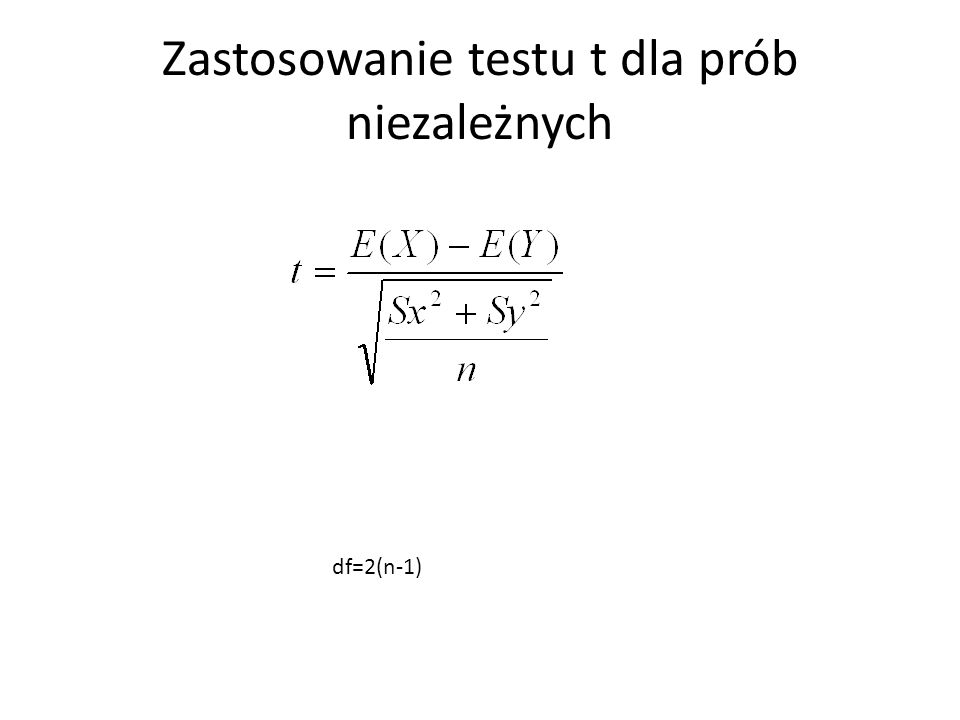 Zastosowanie testu t dla prób niezależnych
