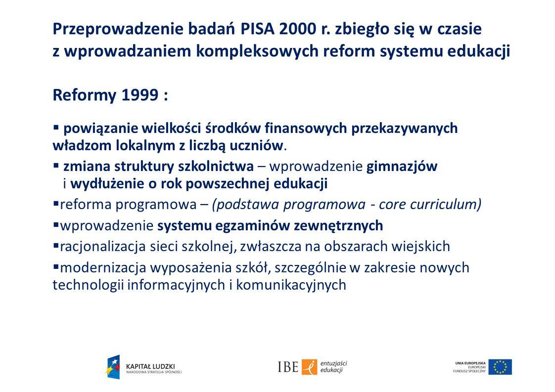 Przeprowadzenie badań PISA 2000 r