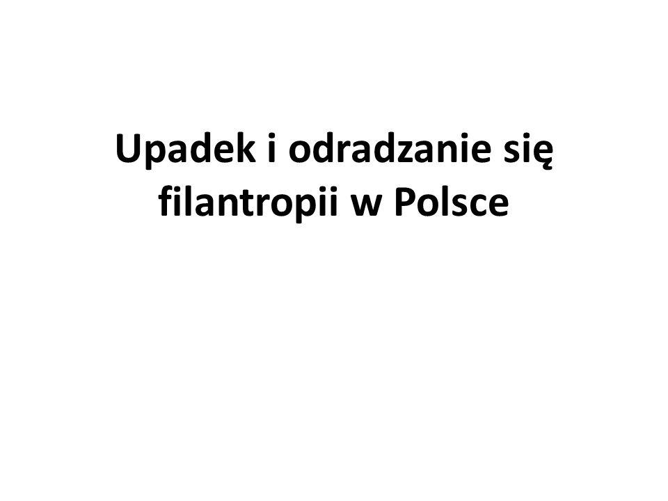 Upadek i odradzanie się filantropii w Polsce