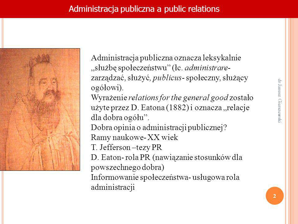 Administracja publiczna a public relations
