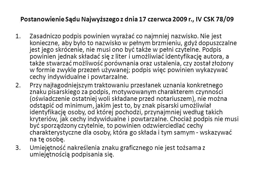 Postanowienie Sądu Najwyższego z dnia 17 czerwca 2009 r., IV CSK 78/09