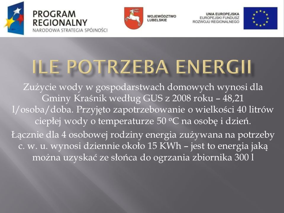 Ile potrzeba energii