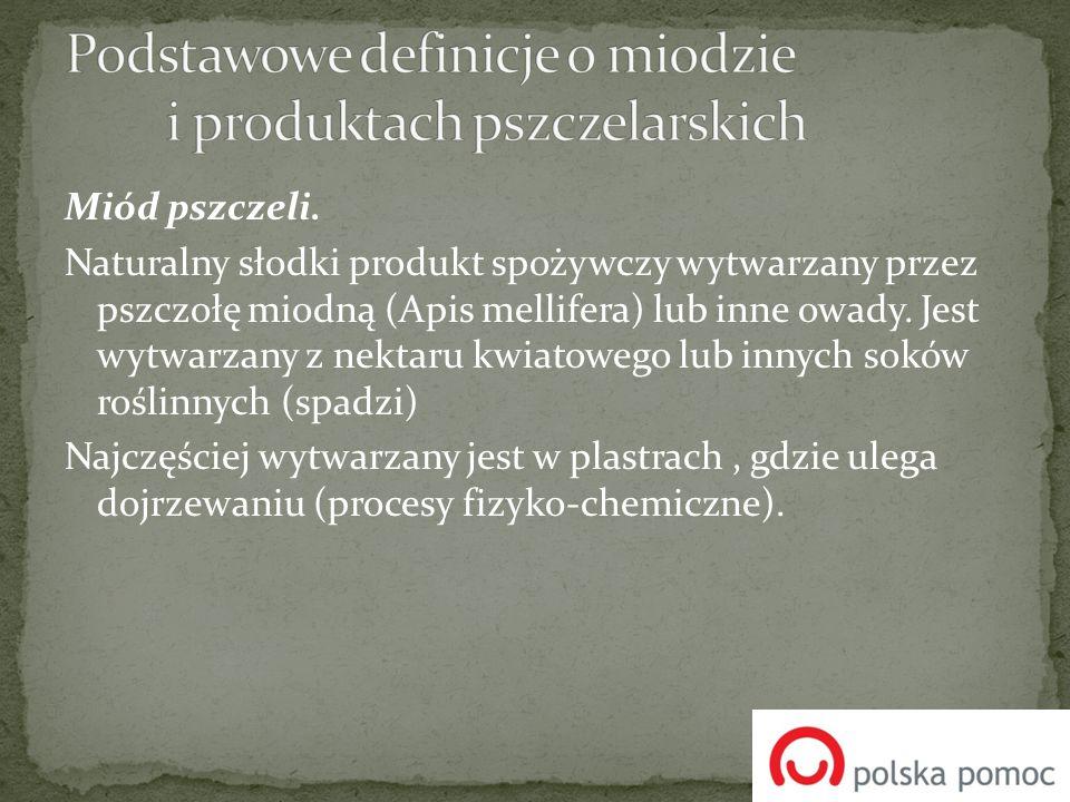 Podstawowe definicje o miodzie i produktach pszczelarskich