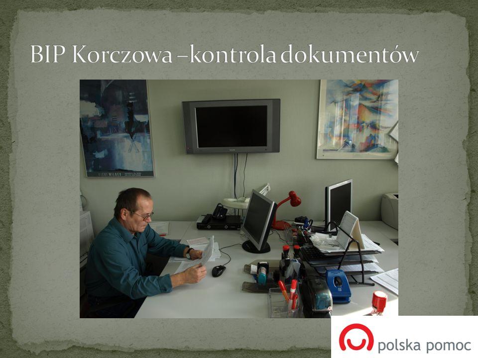 BIP Korczowa –kontrola dokumentów