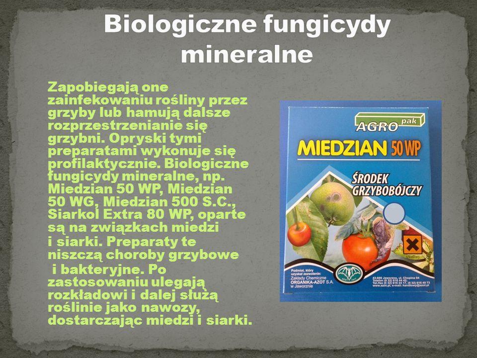 Biologiczne fungicydy mineralne