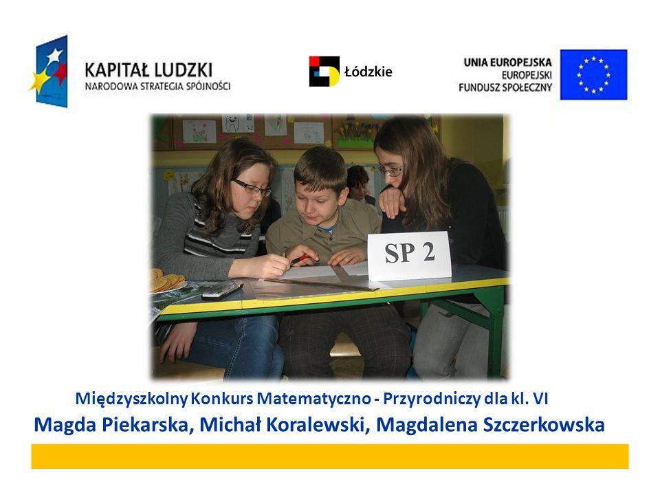 Międzyszkolny Konkurs Matematyczno - Przyrodniczy dla kl. VI