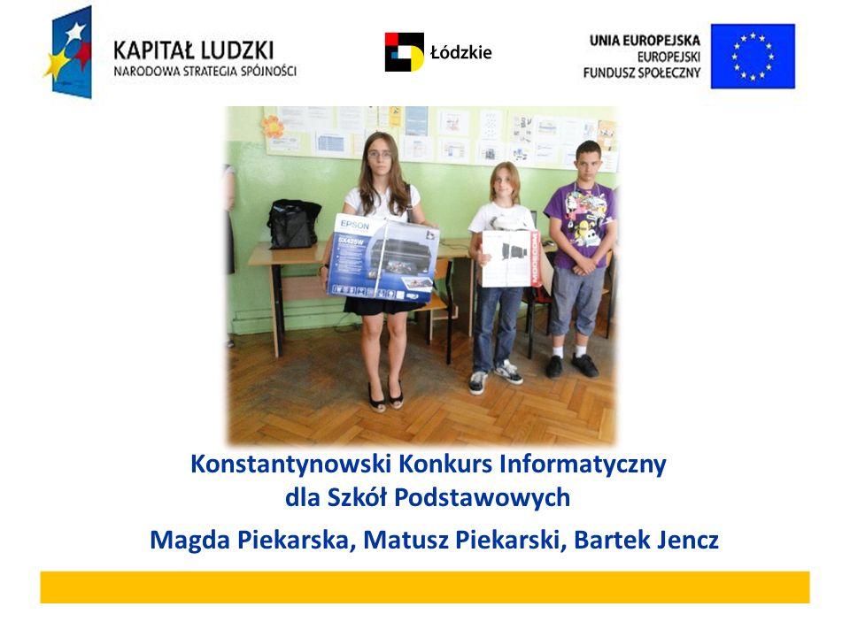 Konstantynowski Konkurs Informatyczny dla Szkół Podstawowych