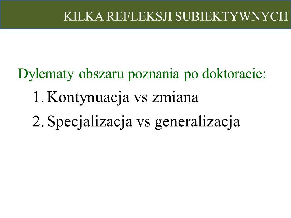 Specjalizacja vs generalizacja