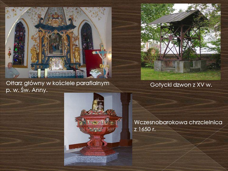 Ołtarz główny w kościele parafialnym p. w. Św. Anny.