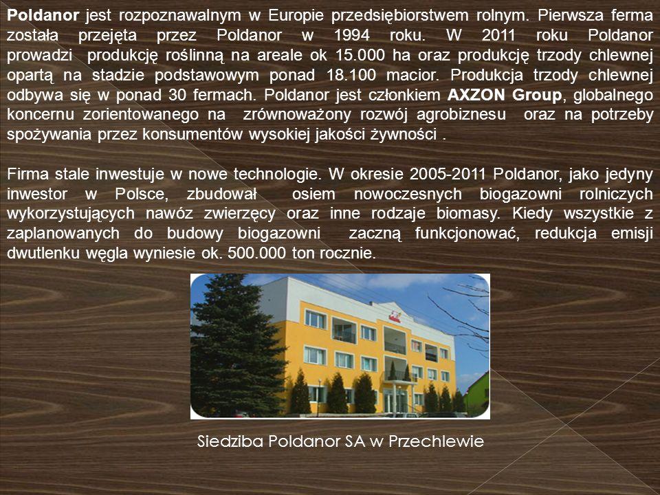 Siedziba Poldanor SA w Przechlewie