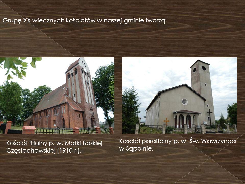 Grupę XX wiecznych kościołów w naszej gminie tworzą: