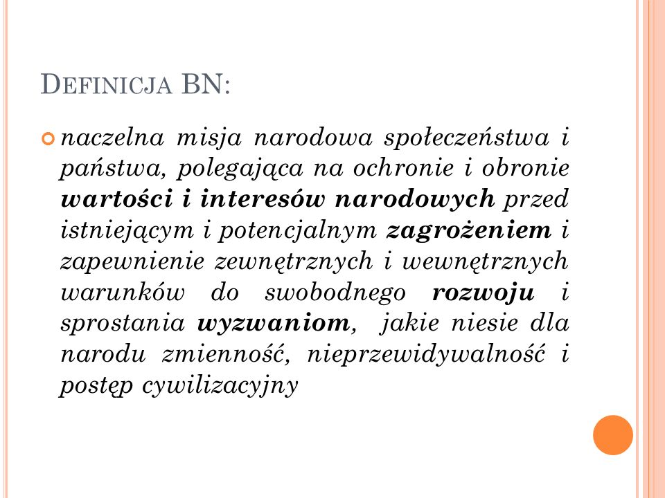 Definicja BN: