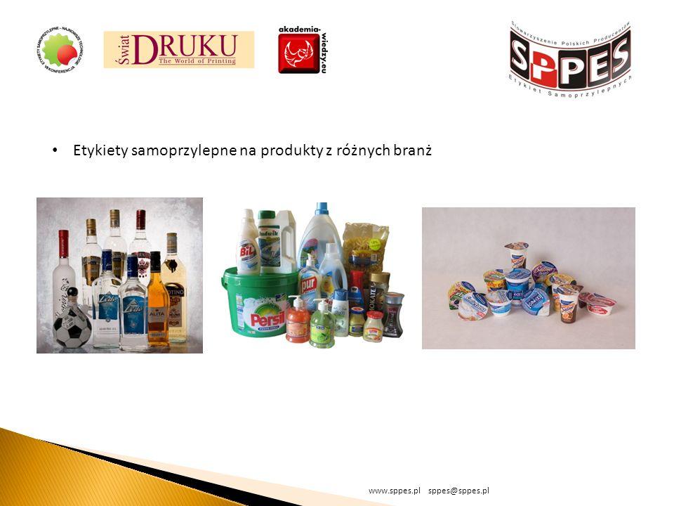 Etykiety samoprzylepne na produkty z różnych branż
