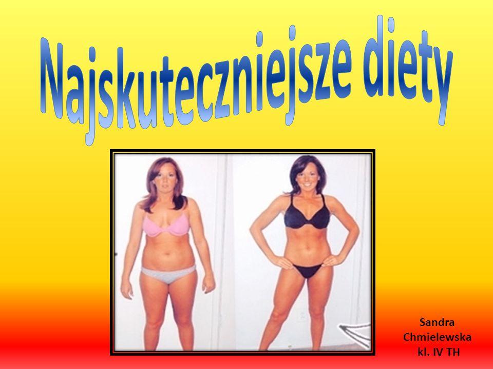 Najskuteczniejsze diety Sandra Chmielewska kl. IV TH
