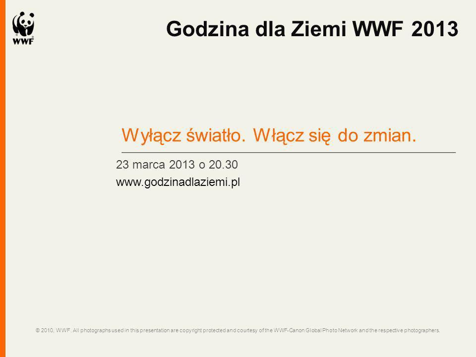 Godzina dla Ziemi WWF 2013 Wyłącz światło. Włącz się do zmian.