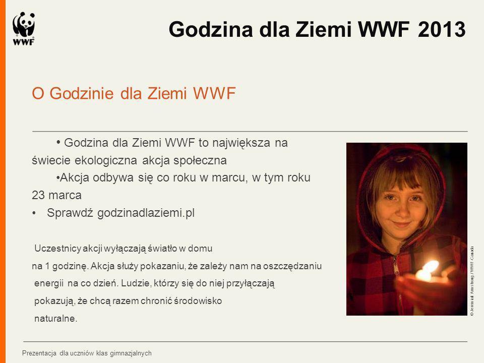Godzina dla Ziemi WWF 2013 O Godzinie dla Ziemi WWF