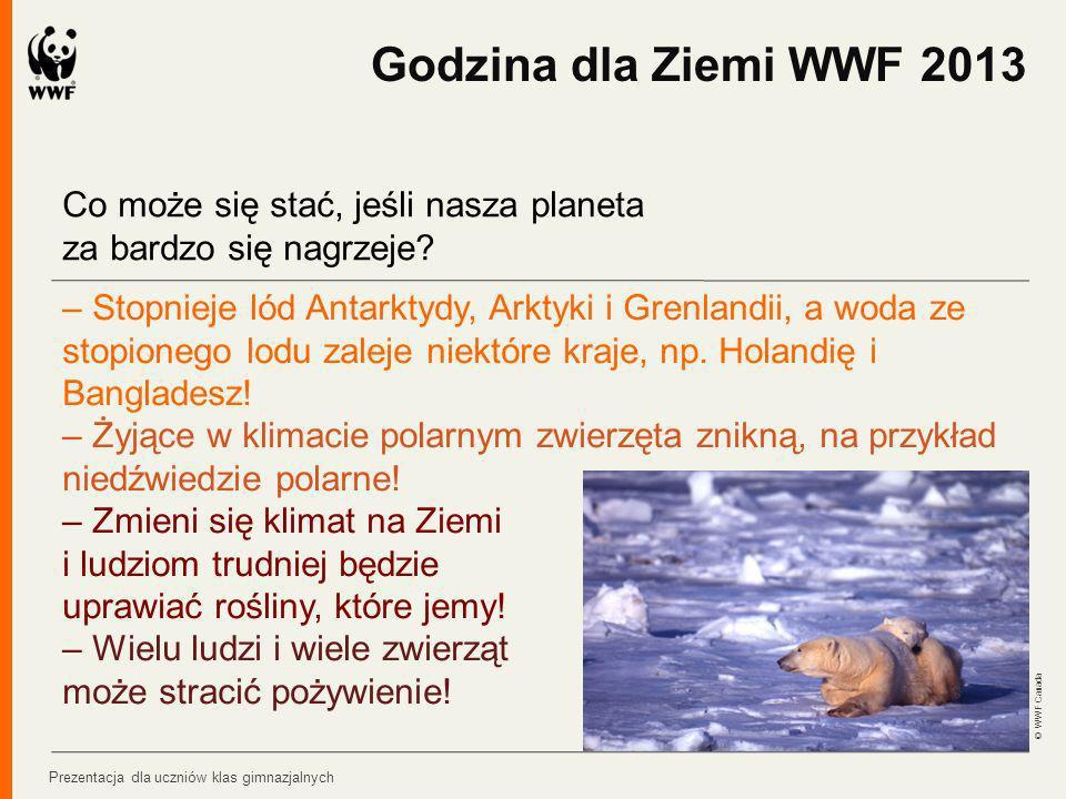 Godzina dla Ziemi WWF 2013 Co może się stać, jeśli nasza planeta za bardzo się nagrzeje