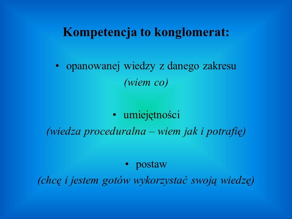 Kompetencja to konglomerat: