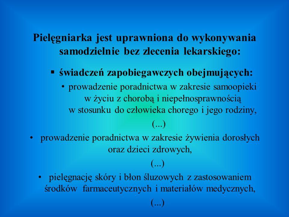świadczeń zapobiegawczych obejmujących:
